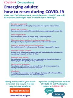 An infographic giving tips to young adults